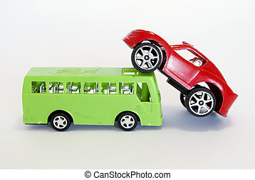 voiture, jouet, buss