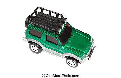 voiture jouet, vert