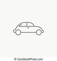 voiture, ligne, icon.