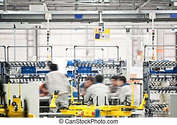 voiture, ligne, moderne,  production
