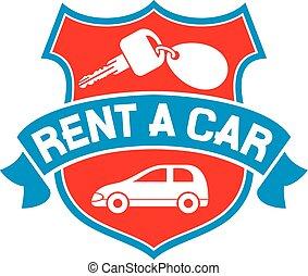 voiture, loyer, symbole