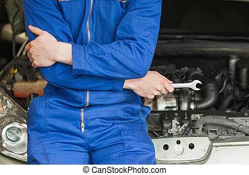 voiture, mécanicien, penchant