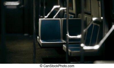 voiture métro, nouveau, vide, intérieur, york