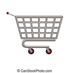 voiture, marché, icône