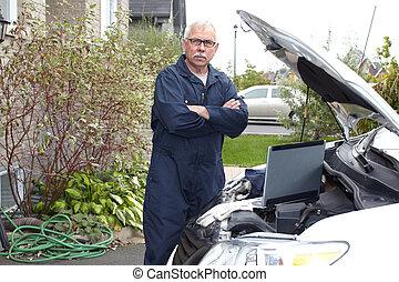 voiture, mechanic.
