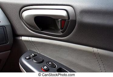 voiture, moderne, panel porte