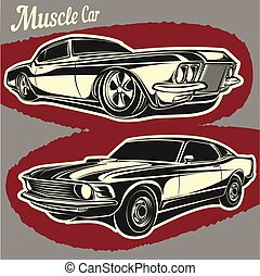 voiture, muscle