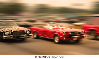 voiture, muscle, course