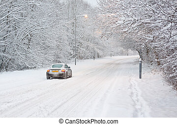 voiture, neige
