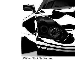 voiture, noir