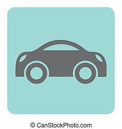 voiture, noir, icône