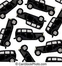 voiture, noir, modèle
