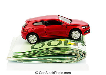 voiture, notes, euro
