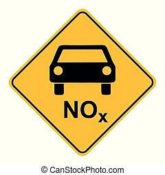 voiture, nox, panneaux signalisations