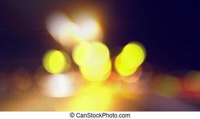 voiture, nuit, conduite, ivre