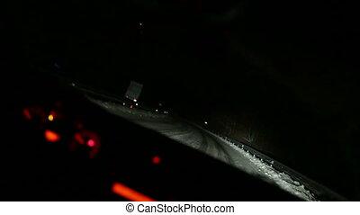 voiture, nuit, conduite