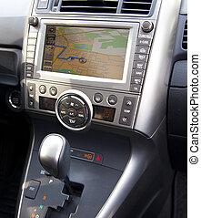 voiture, parcours, navigation, détail