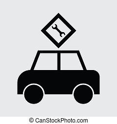 voiture passager, icône