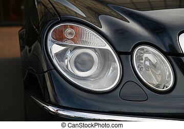 voiture, phare, coûteux