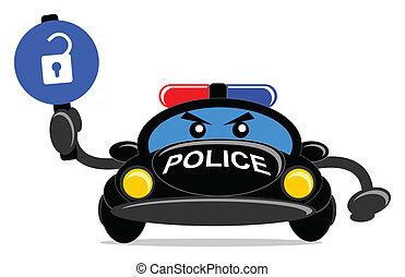 voiture, police