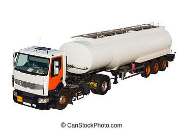 voiture, réservoir, camion