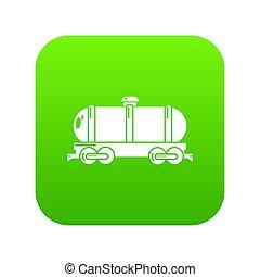 voiture, réservoir, vert, icône