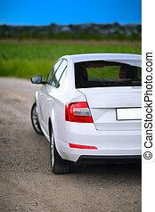 voiture, rear-side, vue