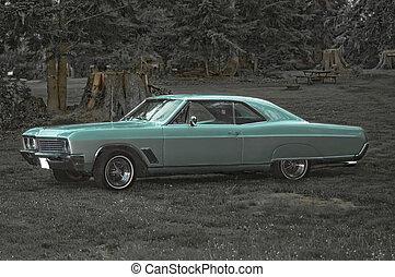 voiture, retro, classique