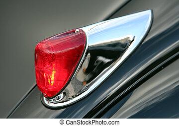 voiture, retro, lumière