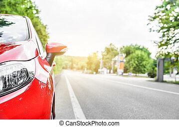 voiture, road.