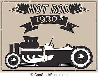voiture, rod chaud