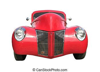 voiture, rouges, classique