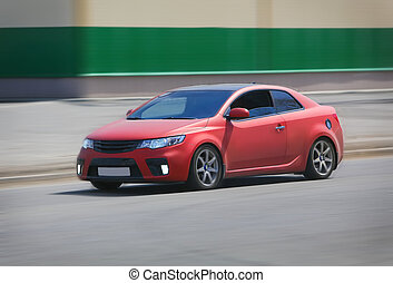 voiture, rouges, sports