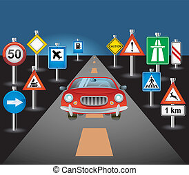 voiture, route