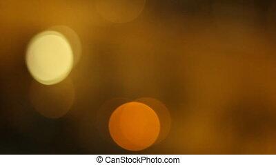 voiture, rue, nuit, blured, lumières