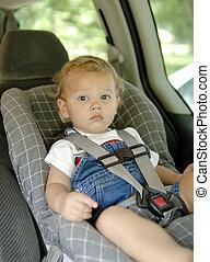 voiture, sécurité, siège