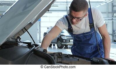voiture, serviceabillity, haut, mécanicien, chèques