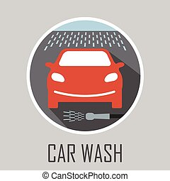 voiture, signe, laver