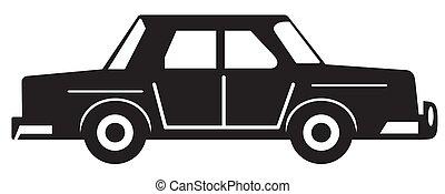 voiture, silhouette