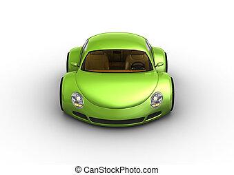 voiture, sourire, vert