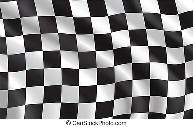 voiture, sport, drapeau course, checkered