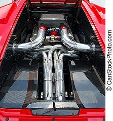 voiture sport, moteur