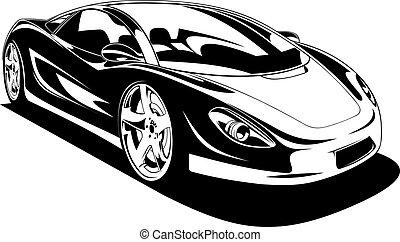 voiture, sport, original, mon, conception