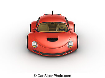 voiture, sport, rouges