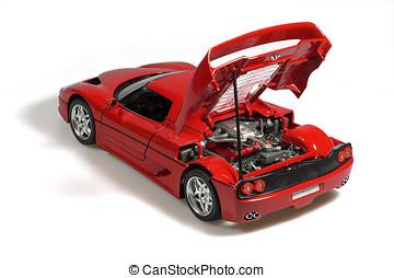 voiture, sport, rouges, miniature