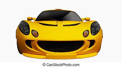 voiture, sports, jaune