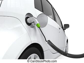 voiture, station, électrique, charger