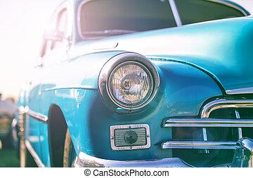 voiture, style, vieux, retro