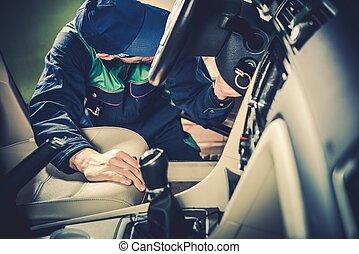 voiture, utilisé, entretien