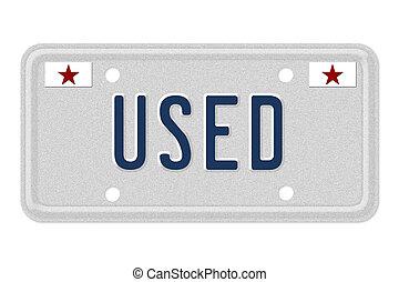 voiture, utilisé, obtenir